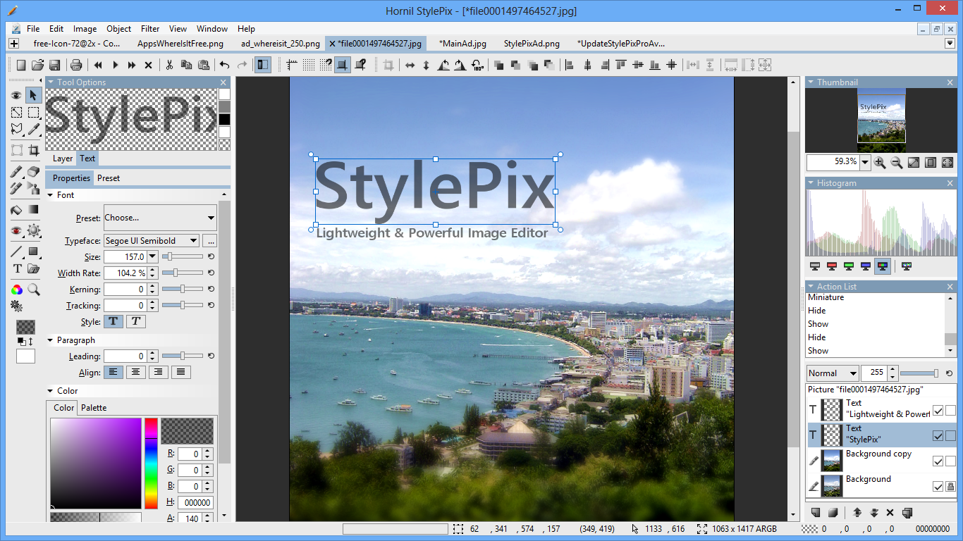 Click to view Hornil StylePix 1.14.1.0 screenshot